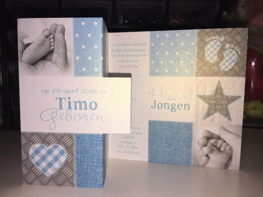 Geboortekaartje Timo