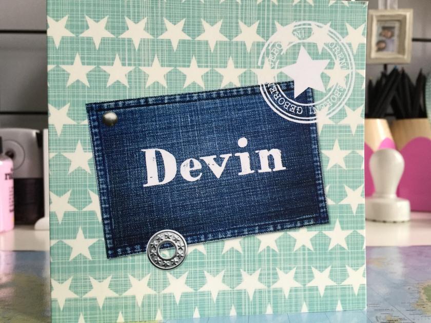 Geboortekaartje Devin