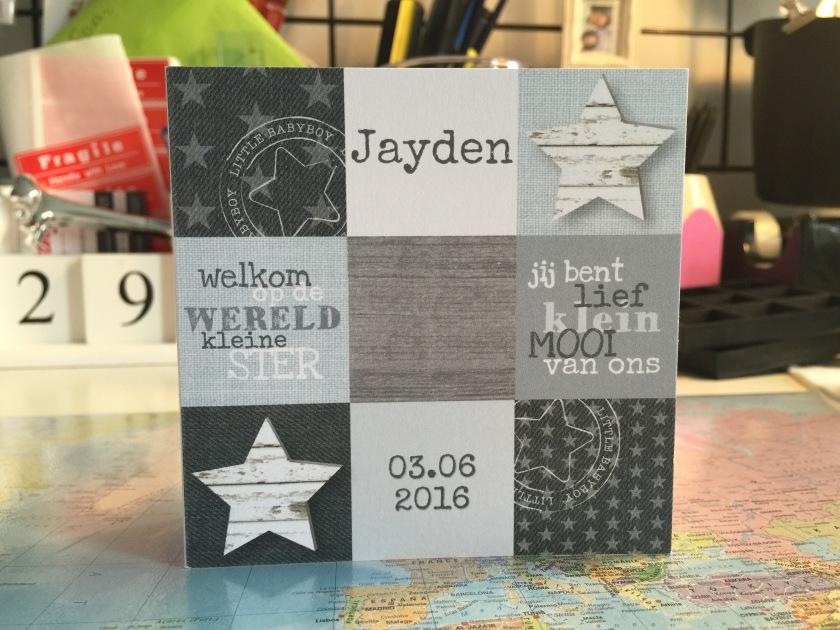 Geboortekaartje Jayden
