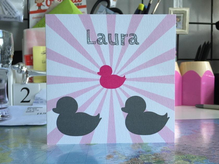 Geboortekaartje van Laura