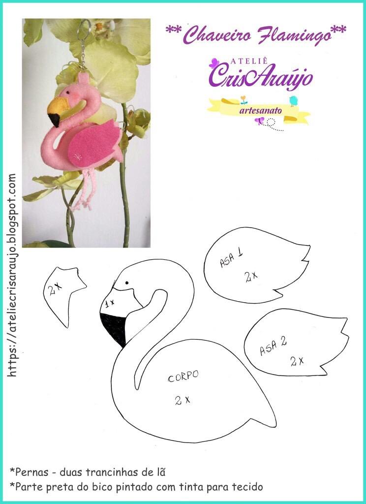 Patroon Flamingo van Cris Araújo