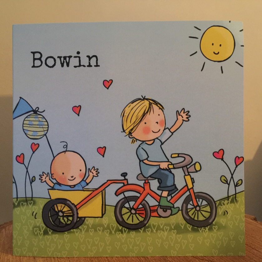 Geboortekaartje Bowin